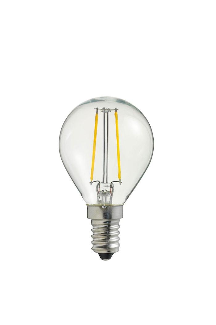 Ljuskälla LED Klar Filament Klot E14
