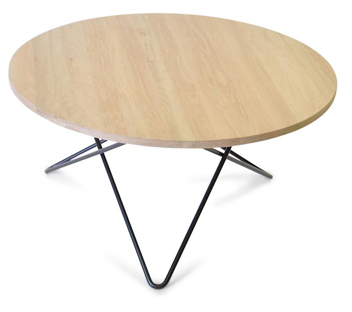 O table wood soffbord Ek/svart