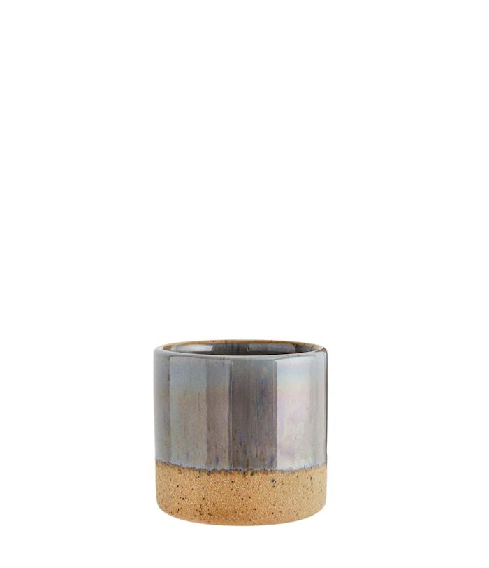 Krukke Ø 7,5 cm - Grå/natur