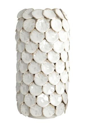 Vase Dot Ø 15x30 cm - Hvid