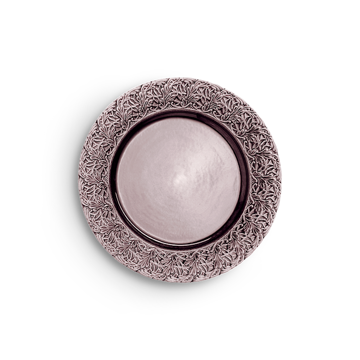 Spets Tallrik Plommon 25 cm