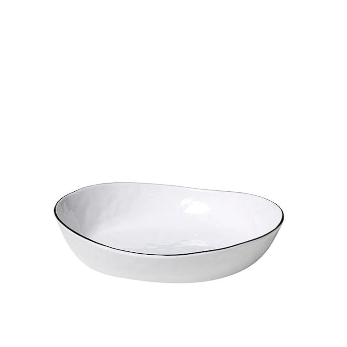 Salt Skål Hvit Porselen 20 x 18,2 cm
