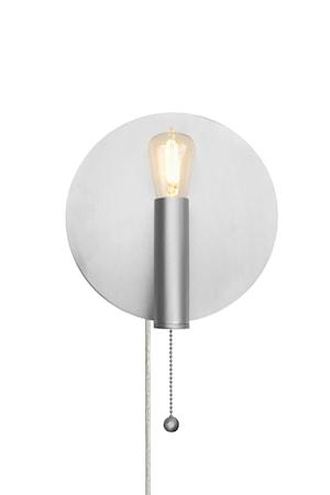 Art Deco Vägglampa Borstad Stål