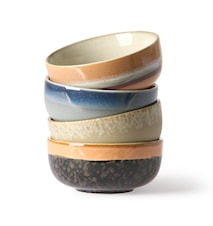 Ceramic 70's tapas Skål 4 stk