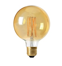 Elect LED 3-Step dim Globe Gold 125mm