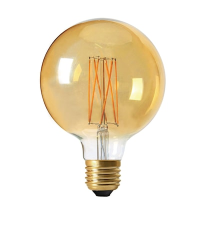 Elect LED 3-trins Dimmerfunktion Globe Gold 125 mm
