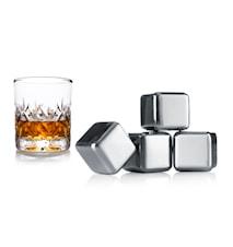 Whiskey Stenar Sæt om 4