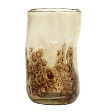 Vase Glass Gjennomsiktig Brun/Beige
