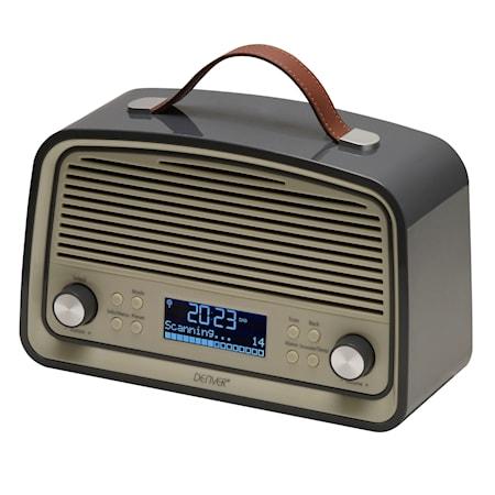 DAB+ & FM-radio i retro-style