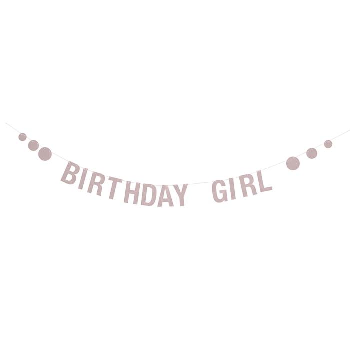 Guirlande Rosa Fødselsdag Papir 220x12 cm