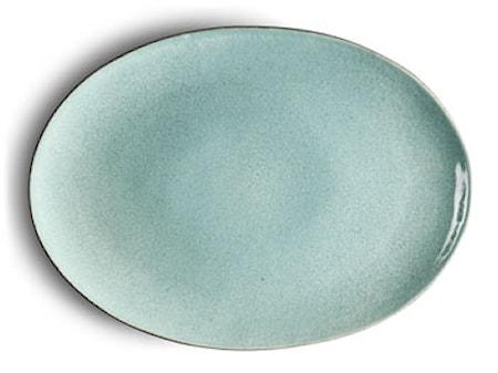 Fad oval grå/lyseblå Bitz