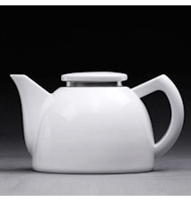 Oskar Tea Pot Low White 1 L