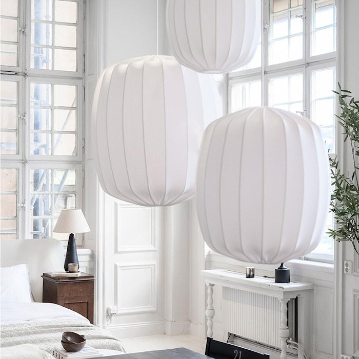 Prisma lámpara de techo blanco 35 cm