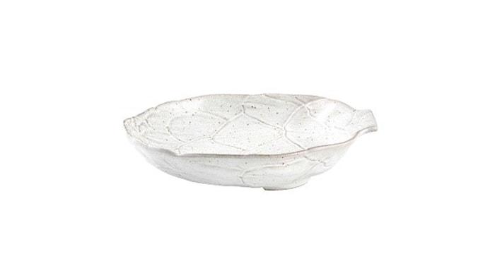 Artichoke Hvit Pastatallerken 28 cm