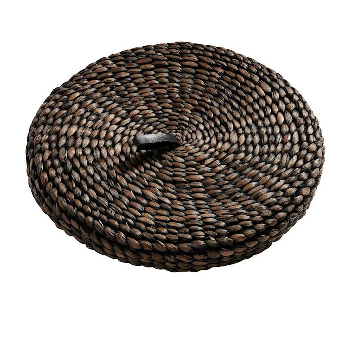 Lokk til Kurv Round 52 cm Svart