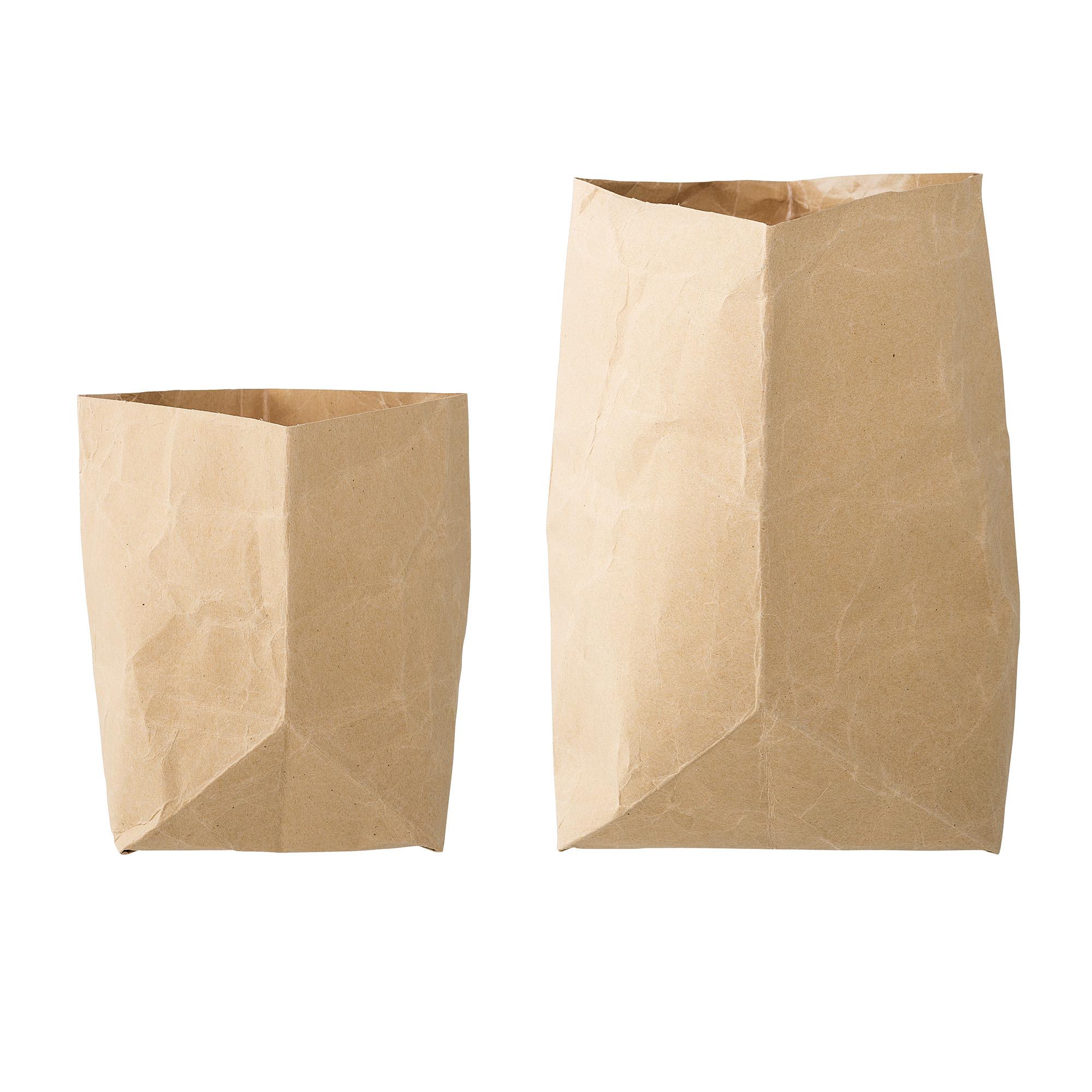 Papperspåsar 2 st. 15x20x15/20x30x20 cm