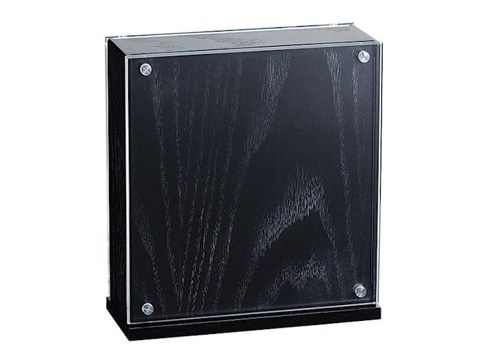 Knivblock svart/plexi 26,5x24 cm