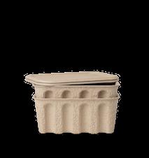 Pappeske 2-pakning Brun