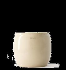 Kruka Glaserad Keramik 17,5x15 cm Beige