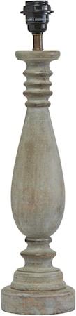 Linda Bordlampe Washed grey 52cm