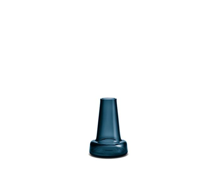 Flora Vas lång hals mörkblå H12