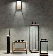 Carre LED Lampa - Svart stål/teak
