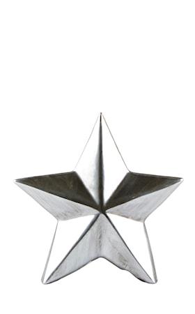 Stjärna Keramik Silver 12x12x2 cm