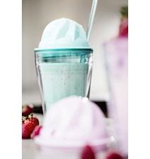 Sweet milkshake med sugerør, grøn
