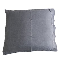 Lovely linen putetrekk – Dark grey, 50x60