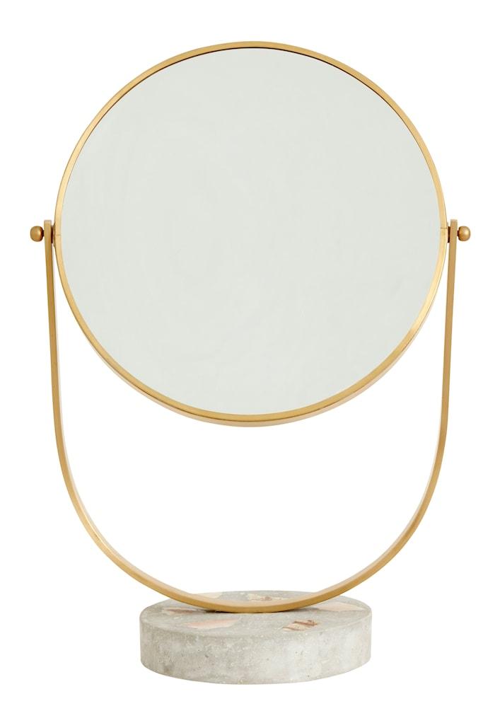 Sminkspegel Guld/Terrazzo