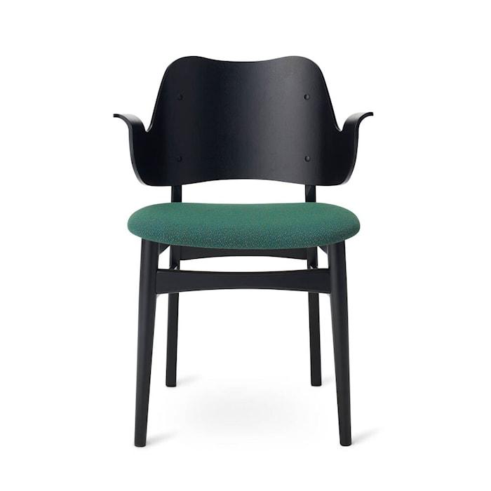 Gesture Chair S Hunter green Svartlackad Bok