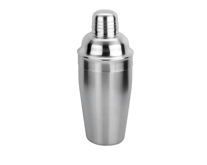 Shaker med sil matt stål 0,5 l