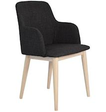 Edgar stol med armlene 2-pakk - Mørkegrå