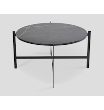 Deck table large - svart marmor / svartlakkert stamme