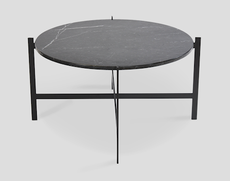 OX DENMARQ Deck table large - svart marmor/svartlackerad stomme