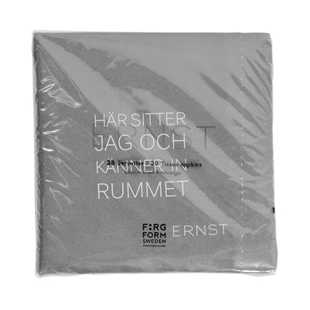 Servett Tid/Rum grå
