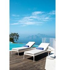 Infinity sunbed - Vit stol, vit dyna