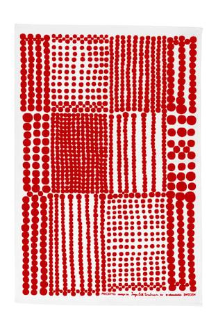 Pricktyg keittiöpyyhe punainen