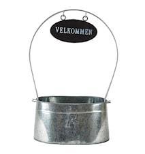 Pot à fleurs 'Velkommen' zinc grand