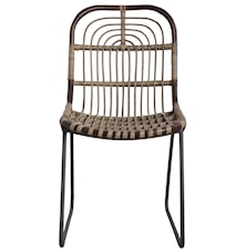 Chair Kawa 46x86 cm - brown/metal