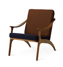 Lean Back Lounge Chair Royal blue/Spicy brown Teak