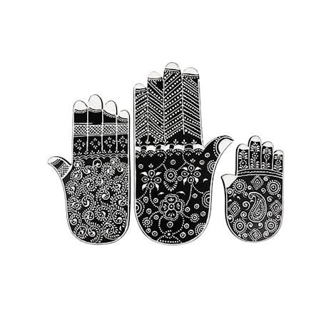 Fatima Hand Dekoration Trä 3 st