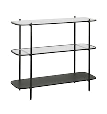 Konsollbord Jern med Marmor/Glass Svart 82x100cm