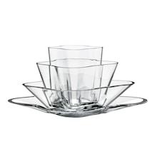 Aalto Vase blomst klar 4-dele