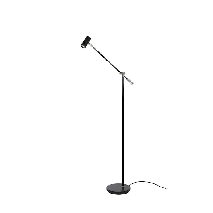 Cato Golvlampa Mattsvart LED 133 cm