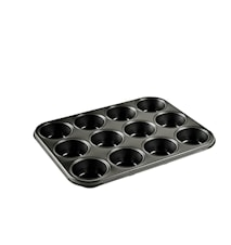 Muffinsform 12 hull 27 x 36 x 3 cm Stål