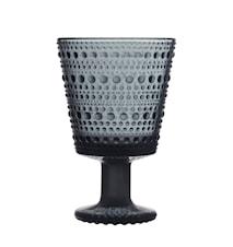 Kastehelmi Glass on foot 26 cl Dark grey 2 pcs
