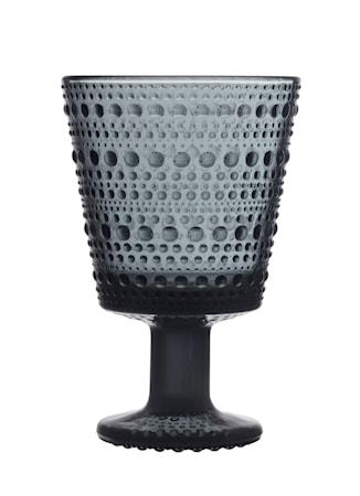 Kastehelmi Glas på fot 26 cl Mörkgrå 2st