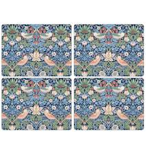Morris Tischset Erdbeerdieb Blau 4er-Pack