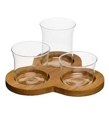 Oval oak serveringsset, 4 delar